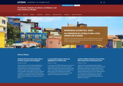 Desktop view of the UConn El Instituto website